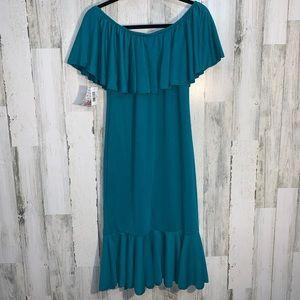 NWT Lularoe Teal cici Dress